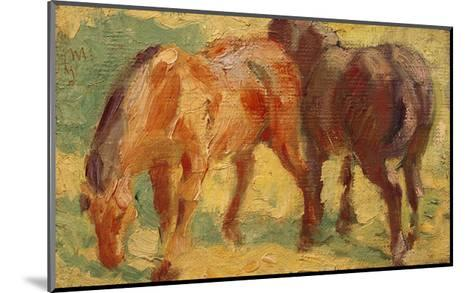 Small Painting of Horses-Franz Marc-Mounted Giclee Print