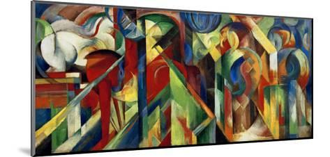 Stables-Franz Marc-Mounted Art Print