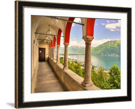 Summer on Lake Maggiore--Framed Art Print