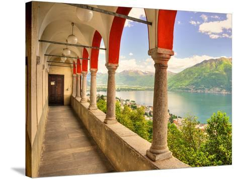 Summer on Lake Maggiore--Stretched Canvas Print