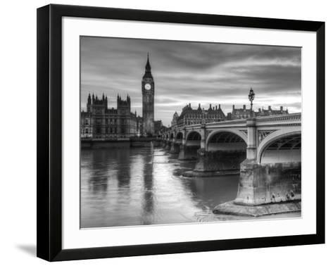 The House of Parliament and Westminster Bridge-Grant Rooney-Framed Art Print