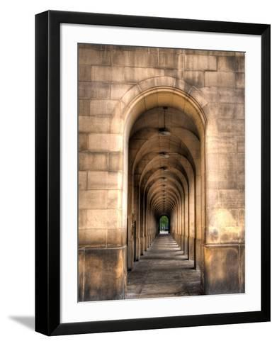 Archway through Manchester, England-Robin Whalley-Framed Art Print