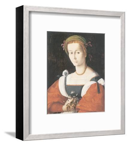 A Lady With A Nosegay-Francesco Ubertini Bacchiacca-Framed Art Print