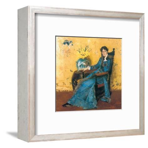 Portrait Of Miss Dora Wheeler-William Merritt Chase-Framed Art Print