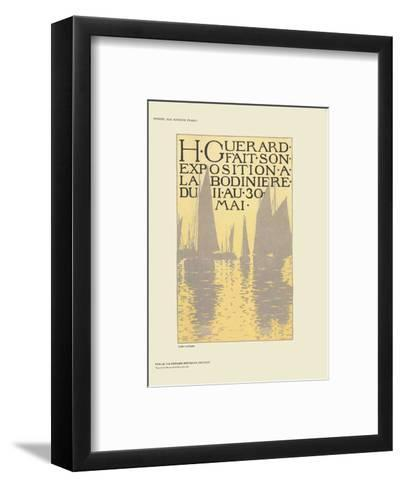 Exposition a La Bodiniere-Henri Guerard-Framed Art Print