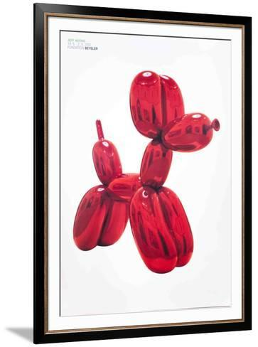 Balloon Dog (Red)-Jeff Koons-Framed Art Print