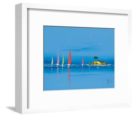 Jour de régate II-Fr?d?ric Flanet-Framed Art Print