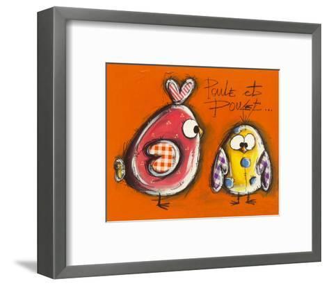 Poule et Poulet-Carine Mougin-Framed Art Print