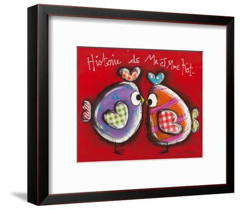 Poules z´amoureuses-Carine Mougin-Framed Art Print