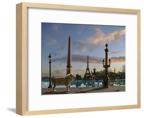 Golden Lion Paris-Patrick Le Hec?h-Framed Art Print