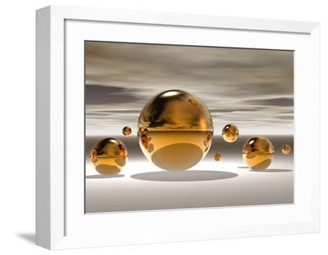 Golden Bowl II-Peter Hillert-Framed Art Print