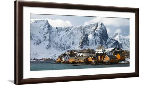 Lofoten Reine - Panorama-Rolf Fischer-Framed Art Print