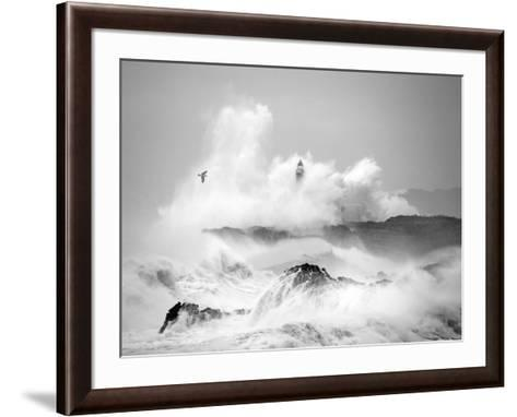 Storm in Cantabria-Marina Cano-Framed Art Print