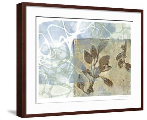 Leaf Inclusion VI-Jennifer Goldberger-Framed Art Print