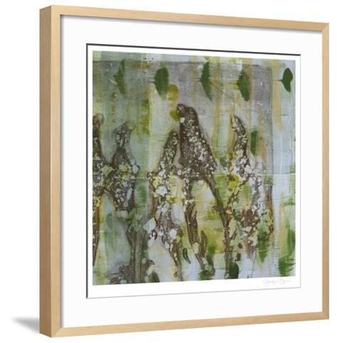Flower Field II-Jennifer Goldberger-Framed Art Print