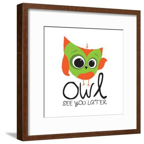 Owl See-Jace Grey-Framed Art Print