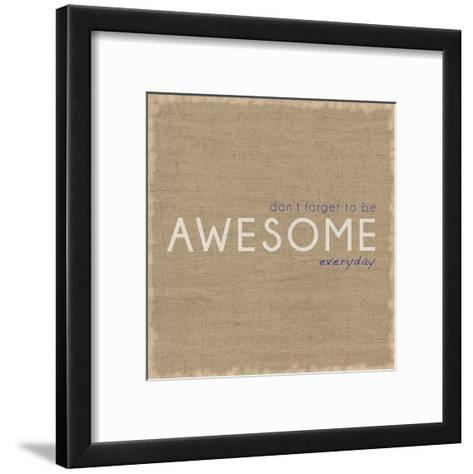 Awesome-Lauren Gibbons-Framed Art Print