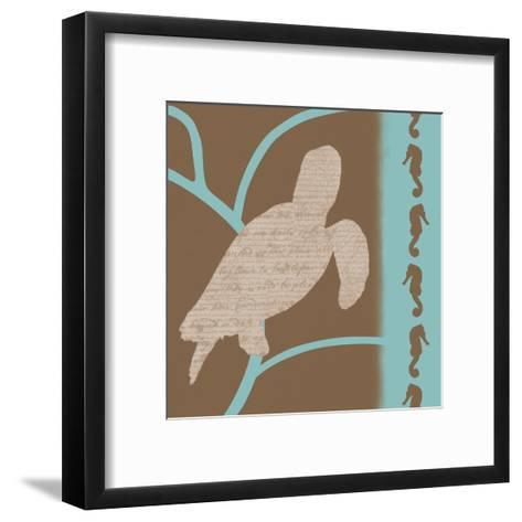 Turtle Pattern-Lauren Gibbons-Framed Art Print