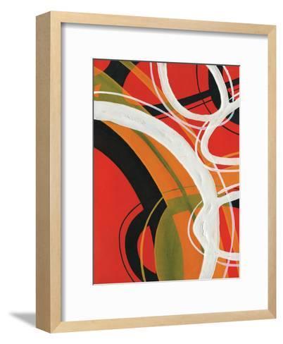 Red Circles II-A Ruiz-Framed Art Print