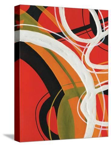 Red Circles II-A Ruiz-Stretched Canvas Print