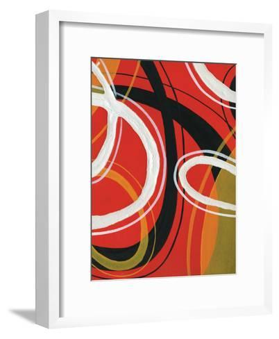 Red Circles-A Ruiz-Framed Art Print