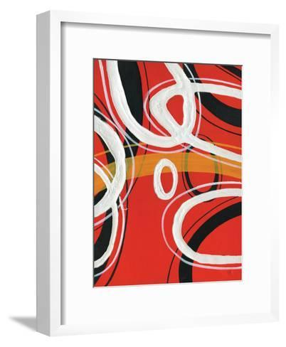 Red Circles I-A Ruiz-Framed Art Print