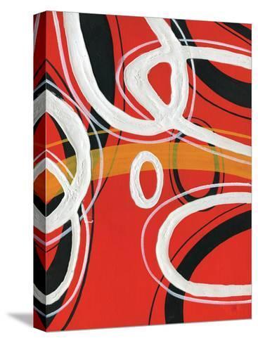 Red Circles I-A Ruiz-Stretched Canvas Print