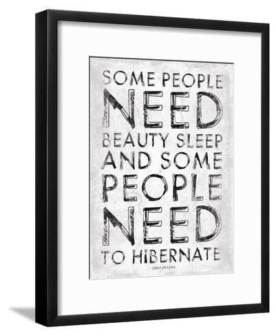 Hibernate-Jace Grey-Framed Art Print