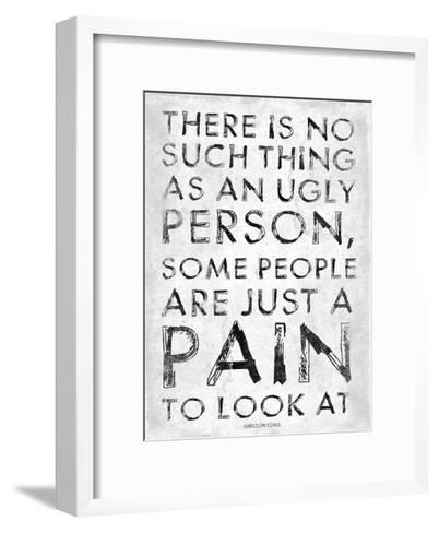 Pain-Jace Grey-Framed Art Print
