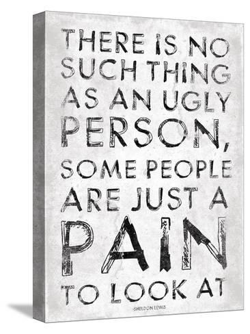 Pain-Jace Grey-Stretched Canvas Print