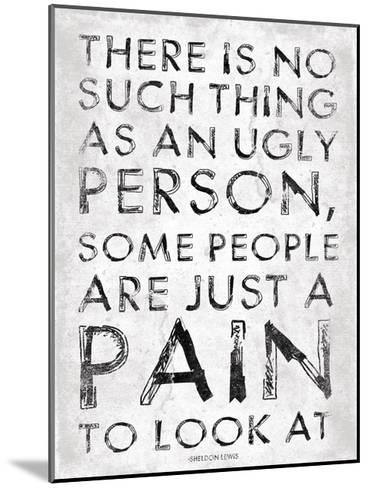 Pain-Jace Grey-Mounted Art Print