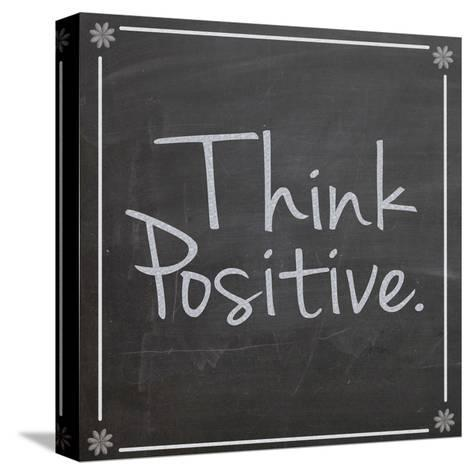 Think Positive-Lauren Gibbons-Stretched Canvas Print
