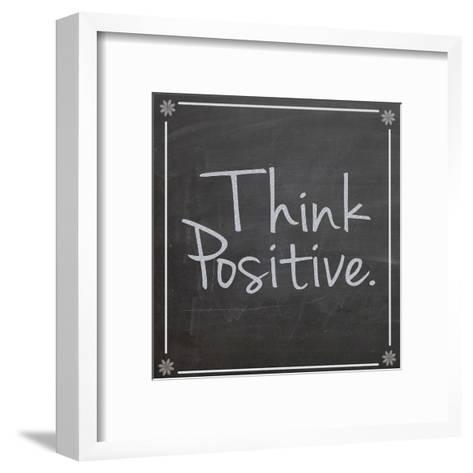 Think Positive-Lauren Gibbons-Framed Art Print
