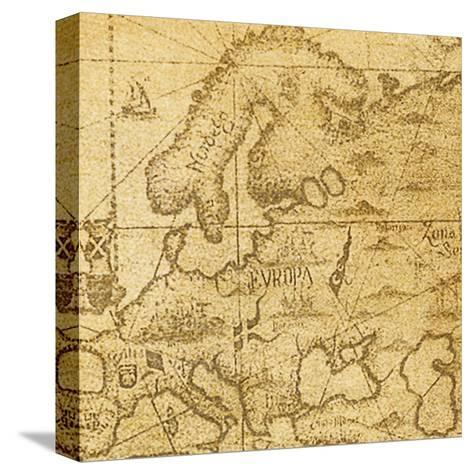 Map-Taylor Greene-Stretched Canvas Print