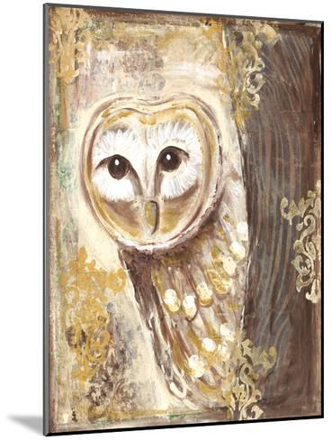 Brown, cream, and gold owls-Erin Butson-Mounted Art Print
