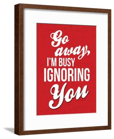 Ignoring-OnRei-Framed Art Print