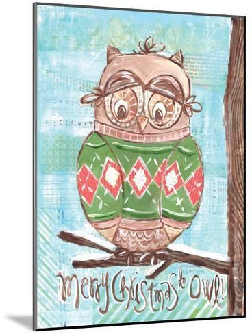Christmas Owl 4-Erin Butson-Mounted Art Print