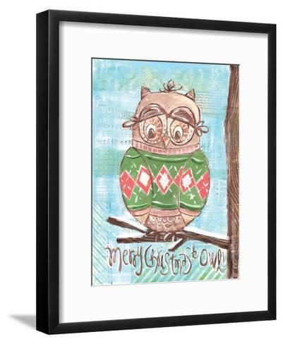 Christmas Owl 4-Erin Butson-Framed Art Print