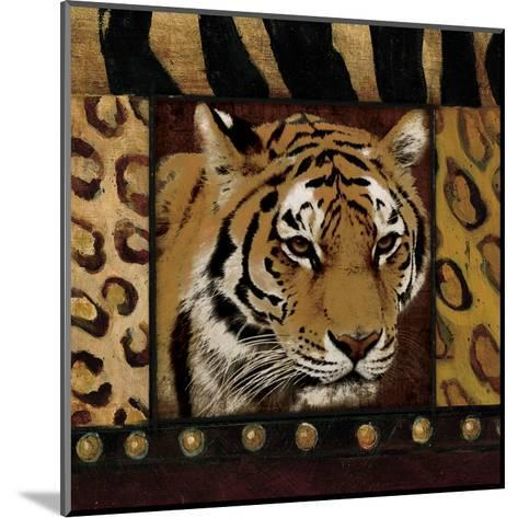 Tiger Bordered-Jace Grey-Mounted Art Print
