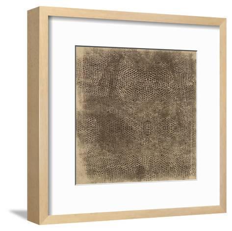 Snake-Jace Grey-Framed Art Print