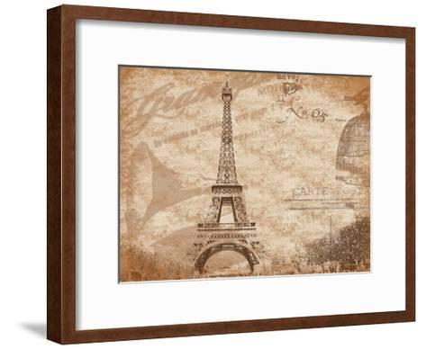 Paris-Jace Grey-Framed Art Print