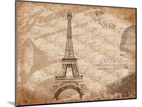Paris-Jace Grey-Mounted Art Print