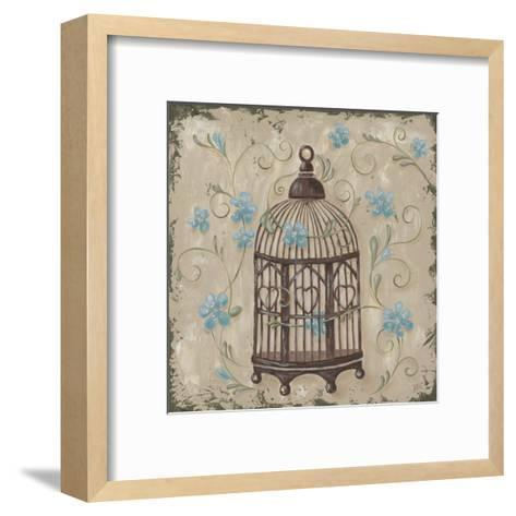 Decorative Bird Cage II-Jade Reynolds-Framed Art Print