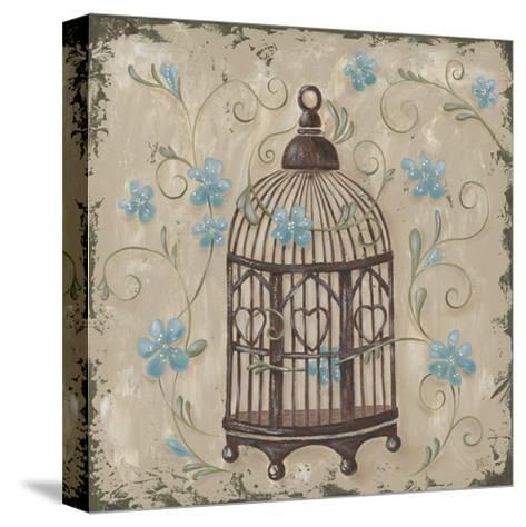 Decorative Bird Cage II-Jade Reynolds-Stretched Canvas Print