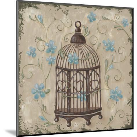 Decorative Bird Cage II-Jade Reynolds-Mounted Art Print