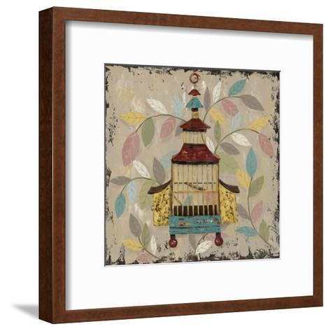 Decorative Bird Cage III-Jade Reynolds-Framed Art Print