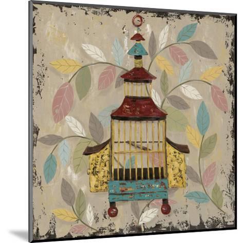 Decorative Bird Cage III-Jade Reynolds-Mounted Art Print