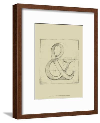 Drafting Symbols II-Ethan Harper-Framed Art Print