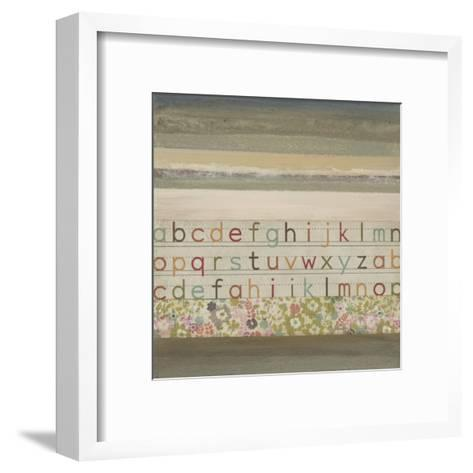 Alphabet I-W^ Green-Aldridge-Framed Art Print