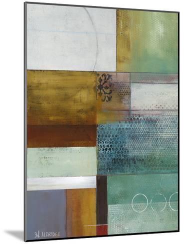 Cosmopolitan Abstract I-W^ Green-Aldridge-Mounted Art Print